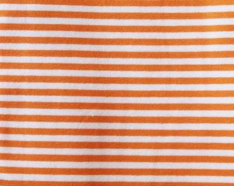 20% OFF Melon Yarn Dyed Stripe - 10oz cotton/lycra knit fabric - 95/5 cotton/spandex jersey knit - 1/8 Inch Stripe - By The Yard