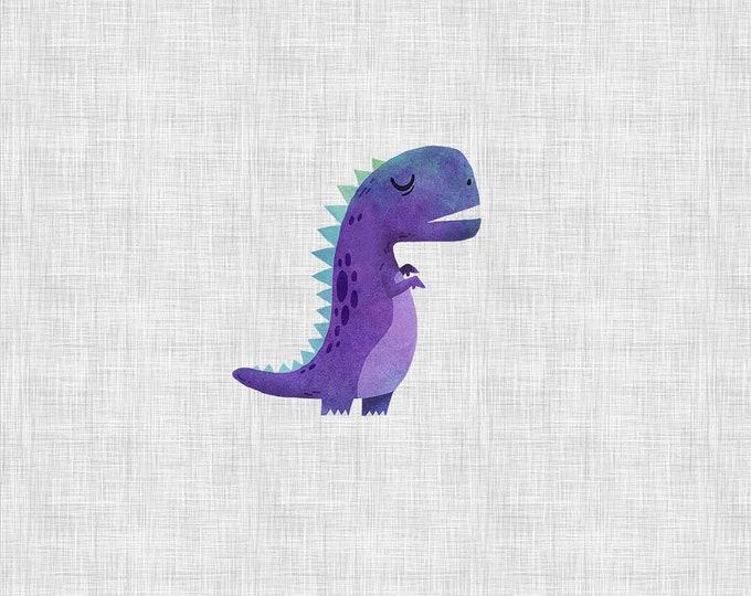 PANEL - Purple Dino