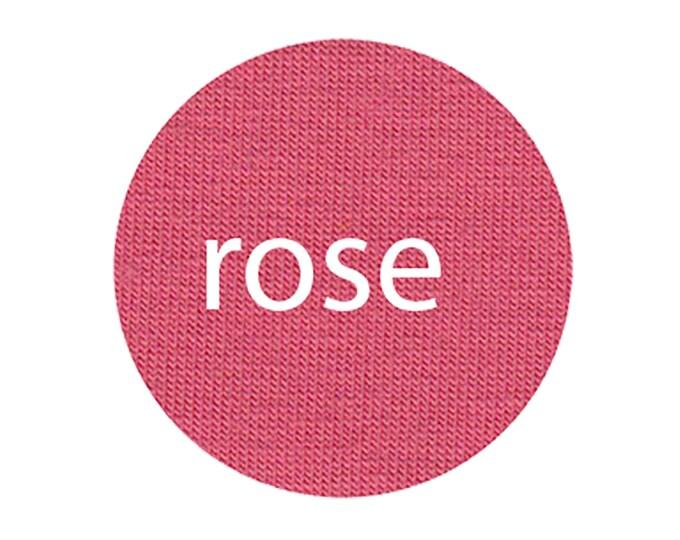 Rose - Organic Euro Knit Solids