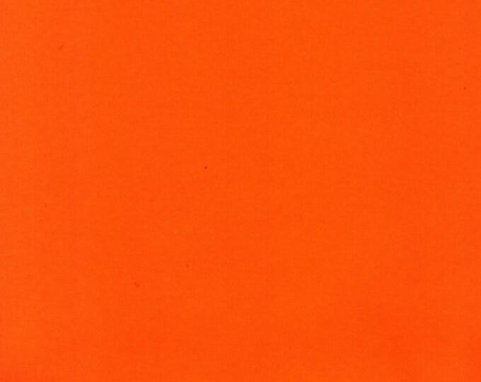 Bright Orange - 10oz cotton/lycra knit fabric - 95/5 cotton/spandex jersey knit - By The Yard