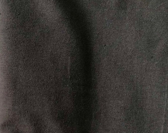 Espresso - 10oz cotton/lycra knit fabric - 95/5 cotton/spandex jersey knit - By The Yard