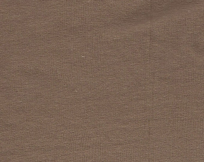 Mocha - 10oz cotton/lycra knit fabric - 95/5 cotton/spandex jersey knit - By The Yard