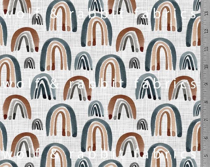 PREORDER - Neutral Rainbows - Organic Cotton/spandex European Jersey Knit