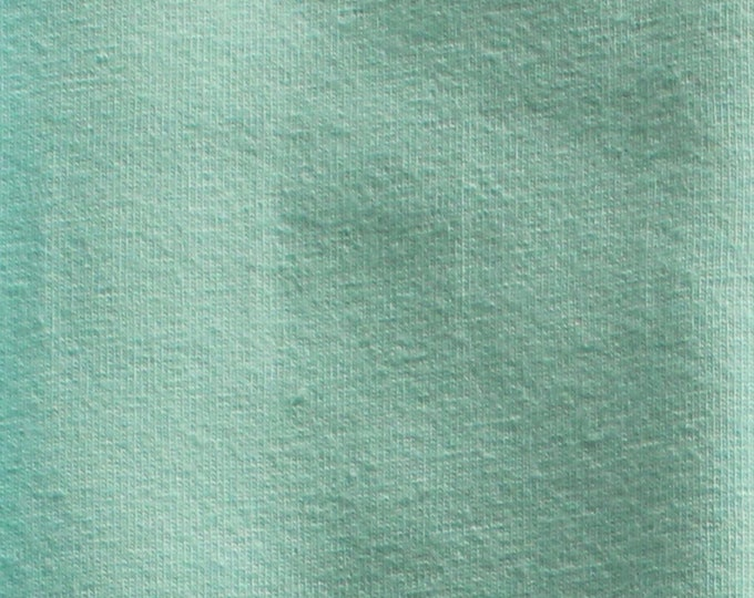 Seafoam - 10oz cotton/lycra knit fabric - 95/5 cotton/spandex jersey knit - By The Yard