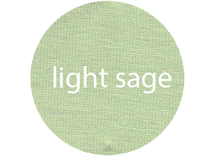 Light Sage - Organic Euro Knit Solids