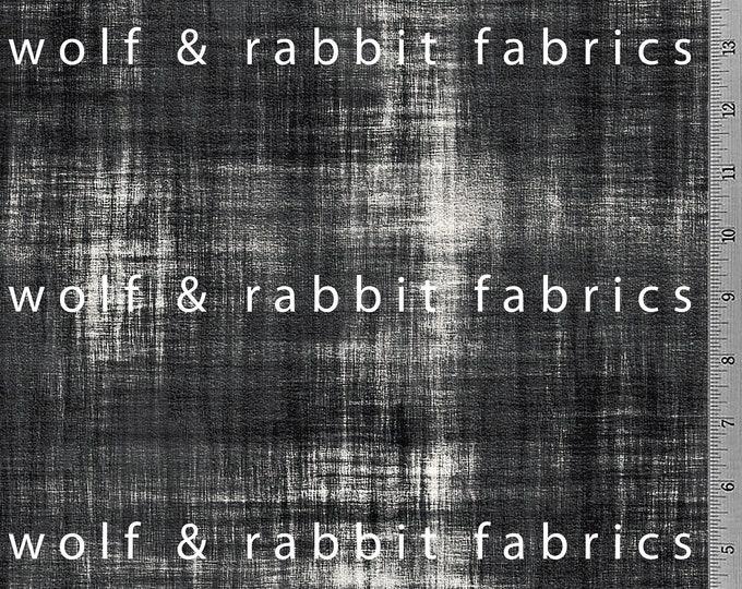PREORDER - Distressed Denim - Black - Organic Cotton/spandex European Jersey Knit