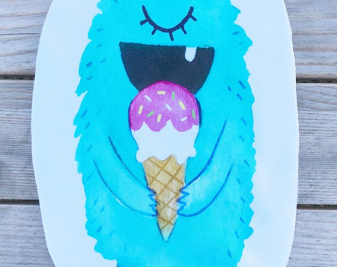 Ice Cream Monster - Aqua - Sew & Stuff Plushies