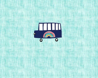 PANEL - Rainbow Bus - Organic Cotton/spandex European Jersey Knit