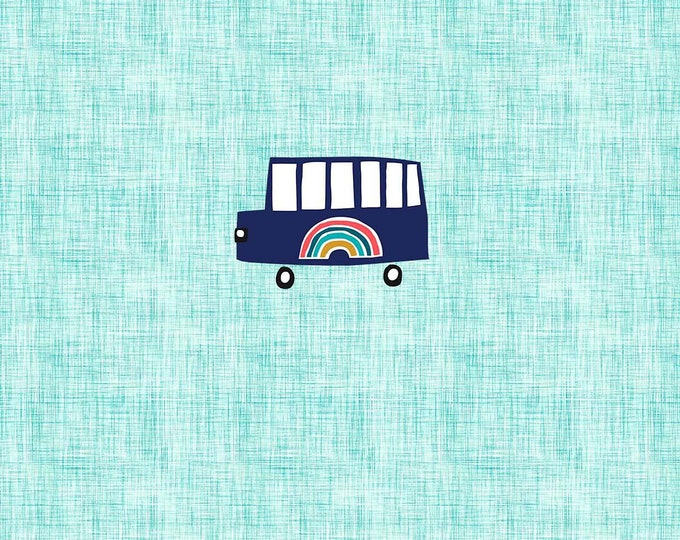 PANEL - Rainbow Bus - Organic Cotton/spandex European Jersey Knit