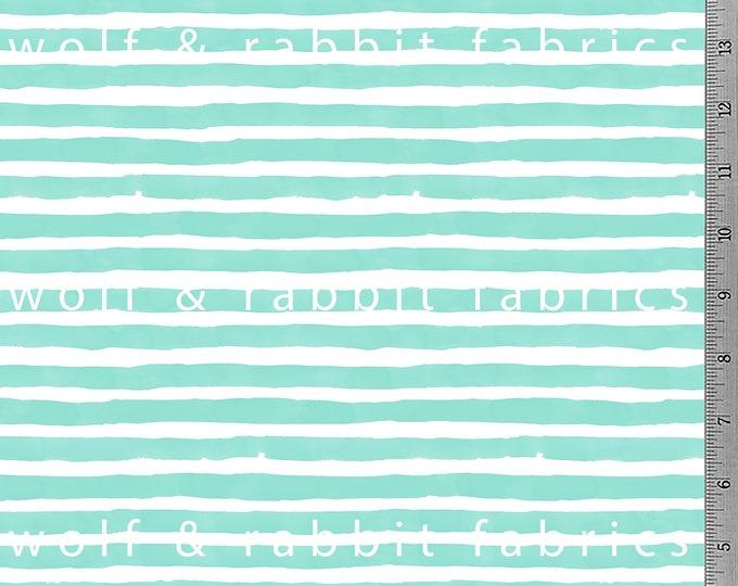 SALE - Mint Watercolor Stripe