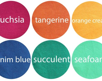 PREORDER - Summer Colors - Organic Euro Knit Solids