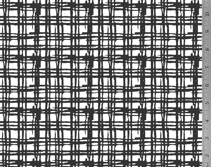 SALE - Darkest Grey Grid