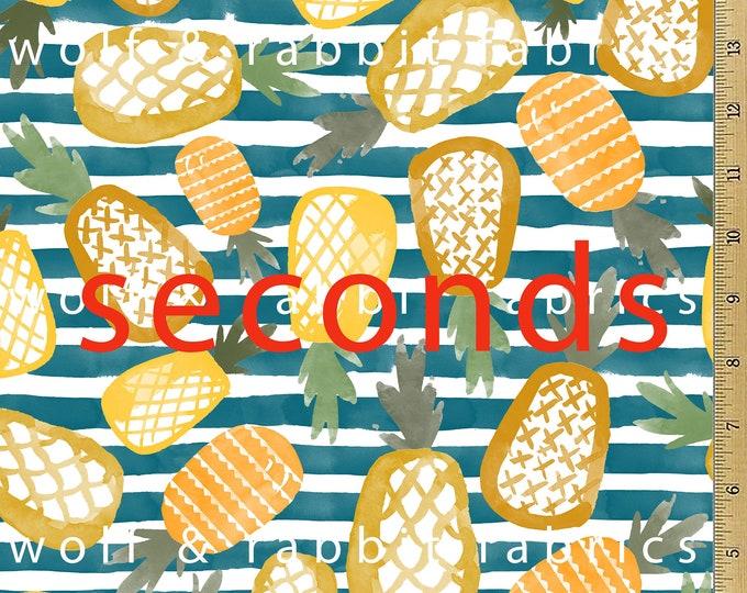 SALE - SECONDS - Pineapple Stripe Fabric