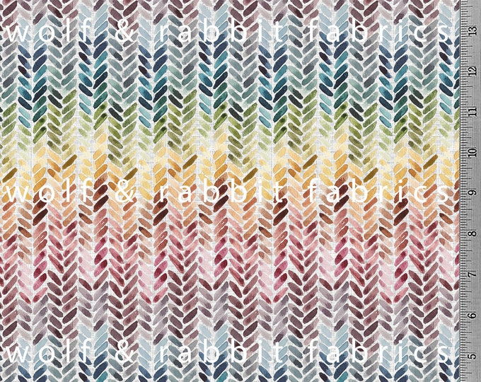 Rainbow Sweater Knit - Light - Organic Cotton/spandex European Jersey Knit