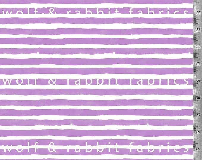SALE - Orchid Watercolor Stripe