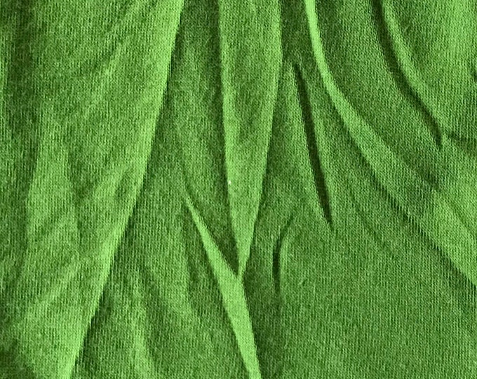 Dark Lime Green - 10oz cotton/lycra knit fabric - 95/5 cotton/spandex jersey knit - By The Yard