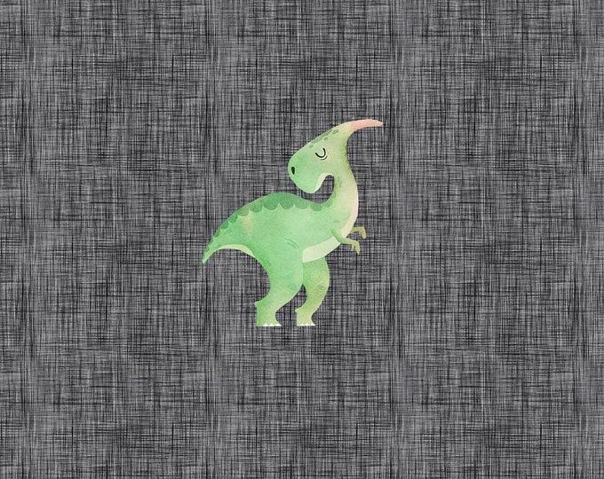PANEL - Green Dino - Organic Cotton/spandex European Jersey Knit