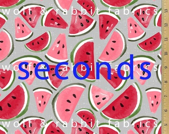 SECONDS - Watermelon Fabric - 12oz cotton/lycra knit fabric - Milled and digitally printed in the USA
