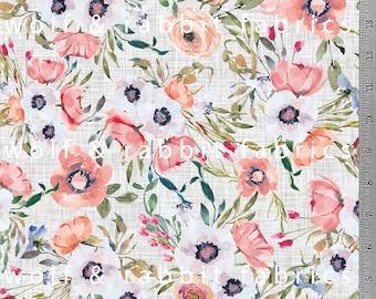PREORDER - Vintage Rose - Organic Cotton/spandex Euro Knit
