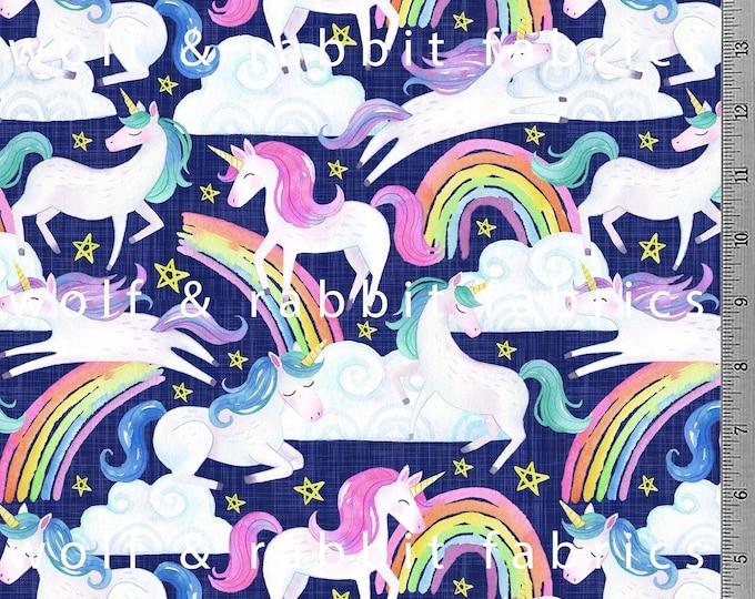 PREORDER - Unicorns - Organic Cotton/Spandex Euro Knit