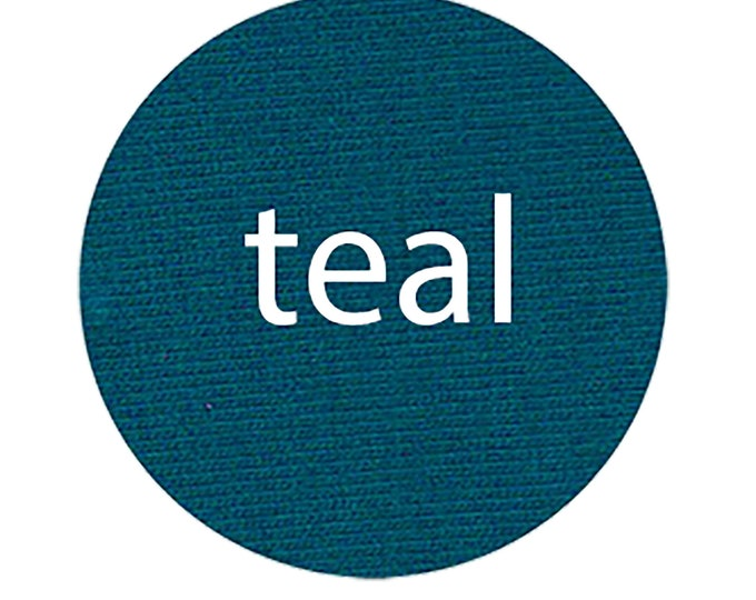 Teal - Organic Euro Knit Solids