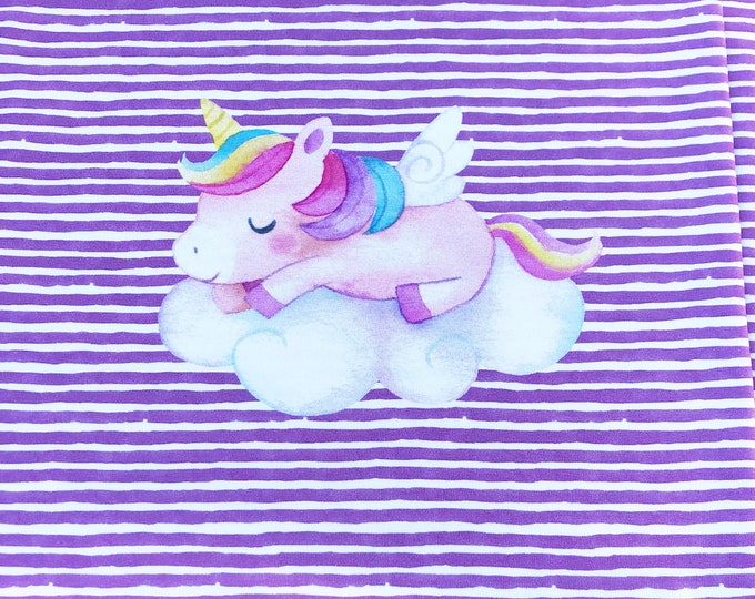 PREORDER - RAPPORT - Unicorn - Organic Cotton/spandex European Jersey Knit