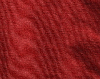 Ginger Red - 10oz cotton/lycra knit fabric - 95/5 cotton/spandex jersey knit - By The Yard