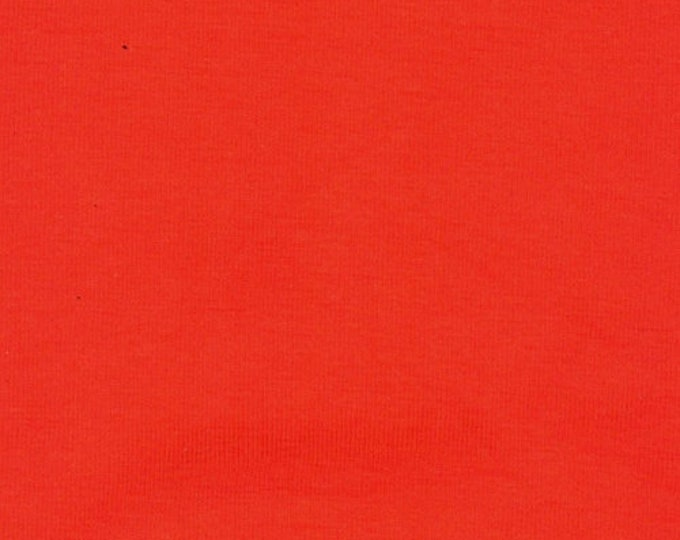 Dark Orange - 10oz cotton/lycra knit fabric - 95/5 cotton/spandex jersey knit - By The Yard