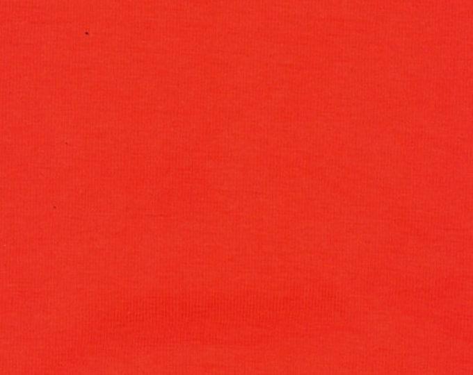 Dark Orange - 10oz cotton/lycra knit fabric - 95/5 cotton/spandex jersey knit - By The Yard