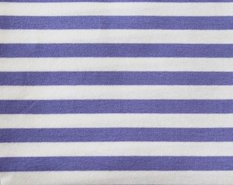 20% OFF! Lilac & White Yarn Dyed Stripe - 10oz cotton/lycra knit fabric - 95/5 cotton/spandex jersey knit - 3/8 Inch Stripe - By The Yard