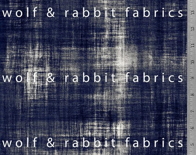 PREORDER - Distressed Denim - Indigo - Organic Cotton/spandex European Jersey Knit