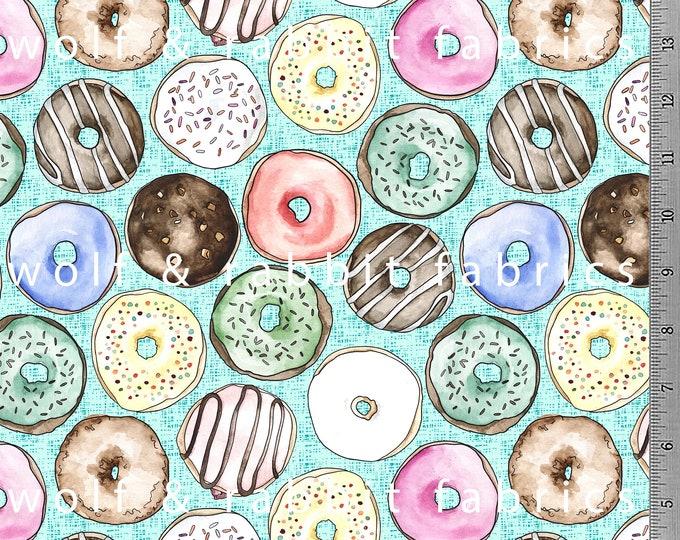 PREORDER - Donuts - Seafoam/Mint - Organic Cotton/spandex Euro Knit