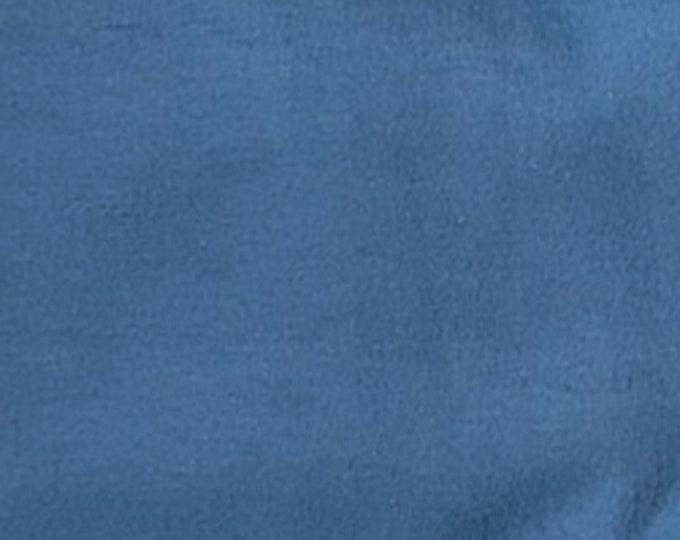 Cadet Blue - 10oz cotton/lycra knit fabric - 95/5 cotton/spandex jersey knit - By The Yard
