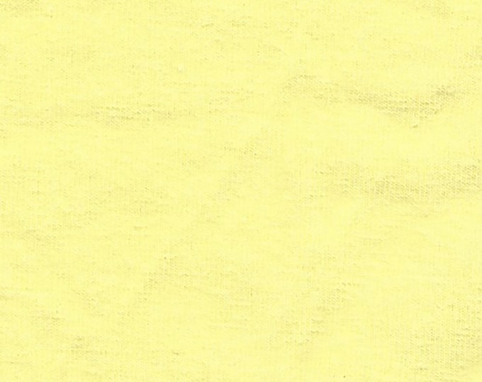 Pale Banana Yellow - 10oz cotton/lycra knit fabric - 95/5 cotton/spandex jersey knit - By The Yard