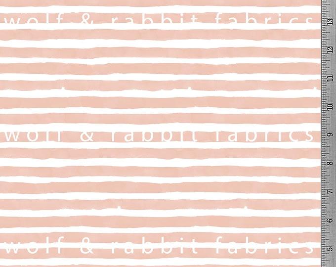 SALE - Blush Watercolor Stripe Fabric
