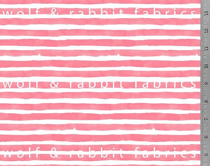 SALE - Salmon Watercolor Stripe