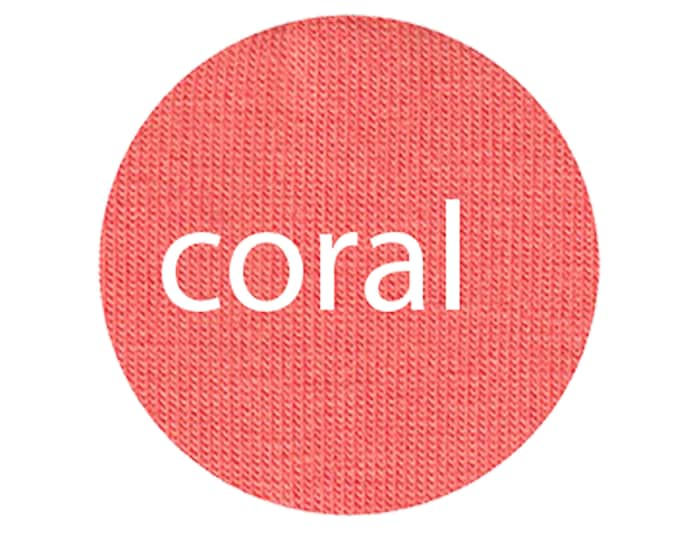 Coral - Organic Euro Knit Solids
