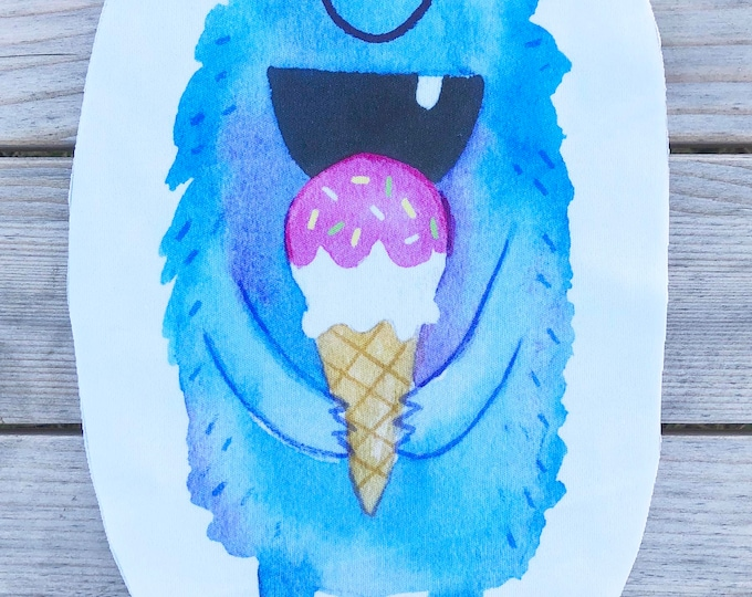 Ice Cream Monster - Blue - Sew & Stuff Plushies