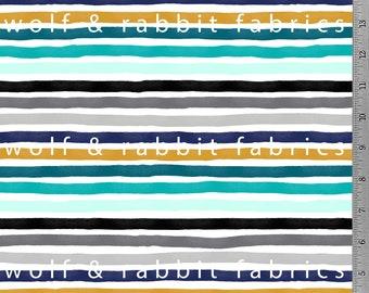 Marker Stripe Multicolor - Organic Cotton/spandex European Jersey Knit