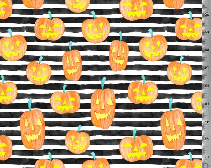 SALE - Jack O Lantern Stripes