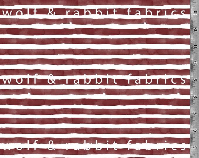 Burgundy Watercolor Stripe