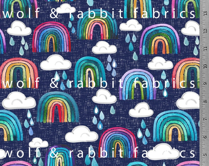 PREORDER - Rainbows & Raindrops  - Organic Euro Knit