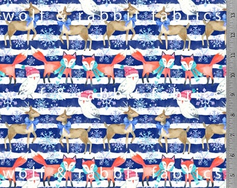 Winter Animals - Organic Euro Knit