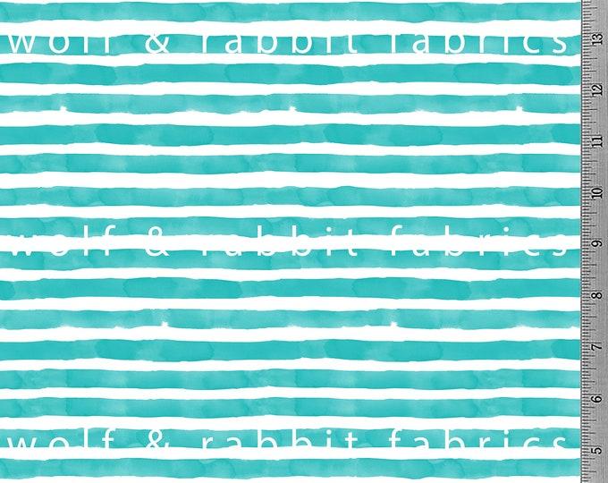Jade Watercolor Stripe