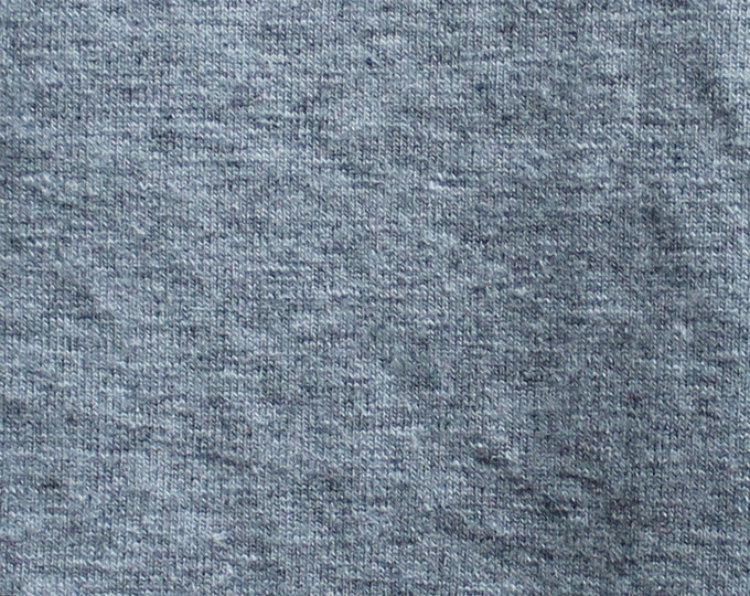 Heather Grey - 10oz cotton/lycra knit fabric - 95/5 cotton/spandex jersey knit - By The Yard