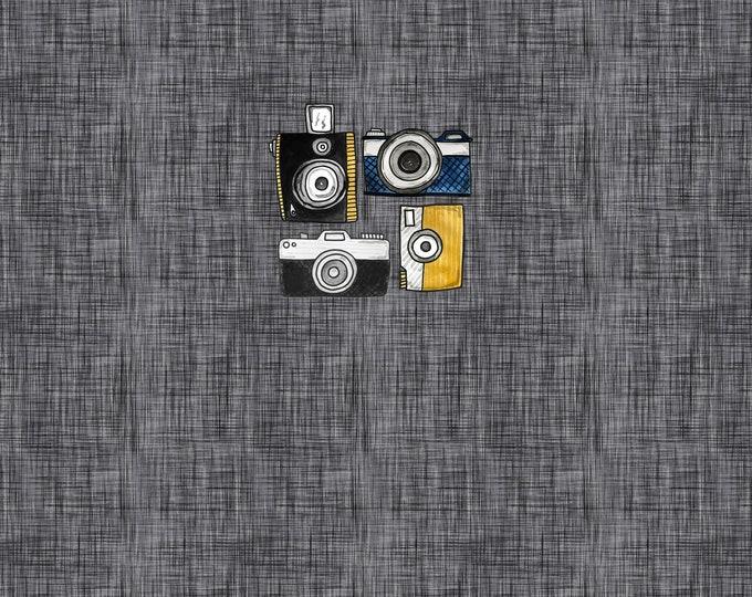 PANEL - Camera - Charcoal - Organic Cotton/spandex European Jersey Knit