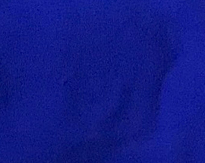 Cobalt Blue - 10oz cotton/lycra knit fabric - 95/5 cotton/spandex jersey knit - By The Yard