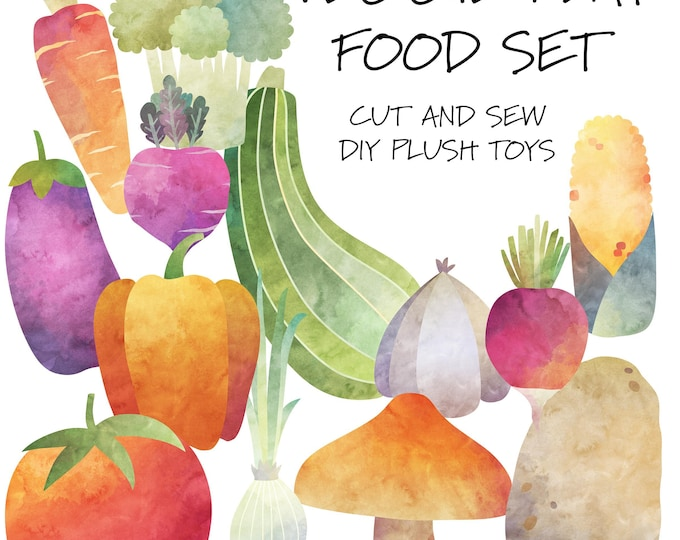 Veggie Play Food Set - Cut & Sew Plush Toys