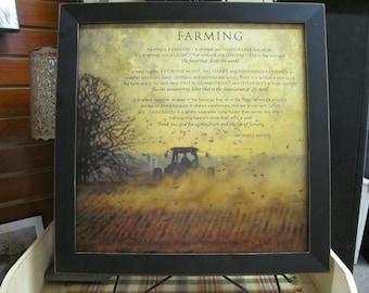 Farming Decor,Farming,Tractor, Farm Poem,Inspirational Farmer,Farmer Wall Decor,Bonnie Mohr