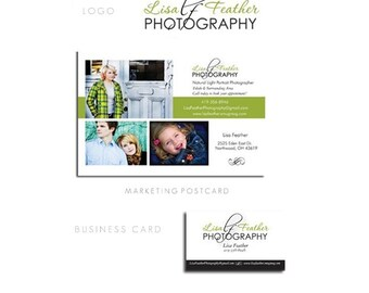 Package F - Professional Custom Logo Design - Blog - Website or Etsy Banner - Avatar - Business Card - Hang Tag and Gift Certificate - Unlimited Revisions
